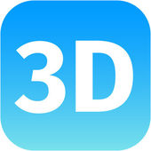 3D blue icon — Stock Photo