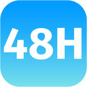 48H icon — Stock Photo