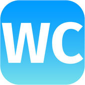 Wc toilet blue icon — Foto Stock