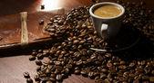 Retro coffee at table — Stock Photo