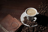 Espresso ontbijt — Stockfoto