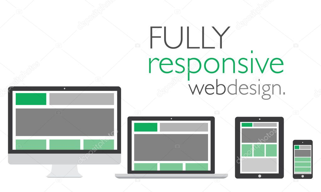 Fully responsive web design in electronic icon devices ...