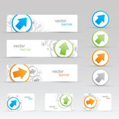 Vector arrow banners and business cards templates eps10 — Vettoriale Stock