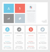 Minimal infographic flat business elements vector illustration — Stock Vector