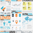 infographic typography filled easy and fresh vector elements — Stock Vector