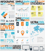 Infographic typography filled easy and fresh vector elements — Stockvektor