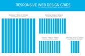 Responsive wed design grids to help coders and designers — Stock Vector