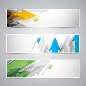 Three abstract vector infographic business arrow banners — Stockvektor