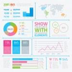 Infographic flat modern elements vector eps10 — Stock Vector