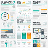 Infographic elements big set vector EPS10 — Stockvektor