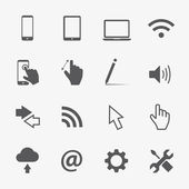 Computer vector icons set — Stock Vector