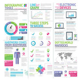 Modern colorful set of infographic elements vector - Illustration — Stock Vector