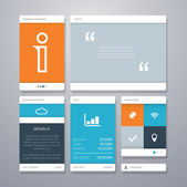 User interface (ui) and infographic vector elements. — Stockvektor