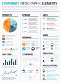 Corporate infographic elements template vector — Stockvektor
