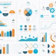Big infographic vector elements collection to display data — Stock Vector