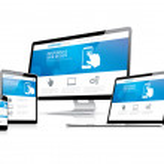 Website coding development with responsive web design concept — Stock Vector