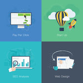 Flat web development business concepts vector set — 图库矢量图片