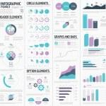 Huge infographic vector elements designers set — Stock Vector #46338557