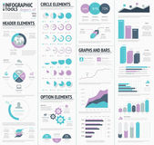 Huge infographic vector elements designers set — Stock Vector