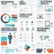 Big colorful set of infographic business elements in vector format — Stock Vector #47034503