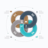 Modern cool infographic option element connection vector concept — Stock Vector
