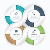 Vackra infographic anslutning cirkel vektorelement business — Stockvektor