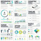 Business and human vector infographic element big set collection — Stockvektor