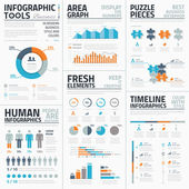 Large collection of infographic vector templates — Stock Vector