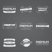Vintage premium quality stickers and elements black vector set — Stock Vector