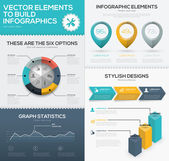 Vector infographic chart elements to business data visualization — Stock Vector