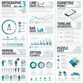 Business Vector Elements for Data Visualization Infographics — Stockvektor