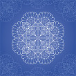 Vector de stock : Ornamental round lace pattern