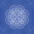 Ornamental round lace pattern — Vector de stock #13355906