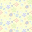 Seamless pattern with flowers — Stock Vector