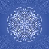 декоративные кружева круглый шаблон — Cтоковый вектор