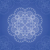 Ornamental round lace pattern — Stockvector
