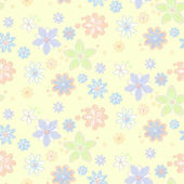 Seamless pattern with flowers — Cтоковый вектор