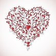Vector de stock : Heart-shaped ornament