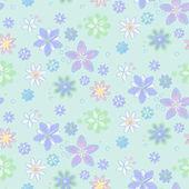 Seamless mönster med blommor — Stockvektor
