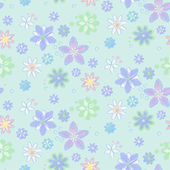 Seamless pattern with flowers — Vettoriale Stock