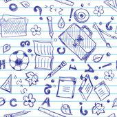 бесшовные школа фон — Cтоковый вектор