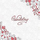 Tarjeta de boda — Vector de stock