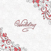 Wedding card — Stok Vektör