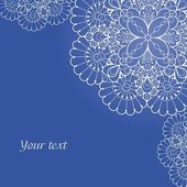 Background with lace ornament and space for your text — ストックベクタ