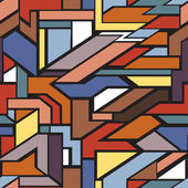 Geometriska seamless mönster — Stockvektor