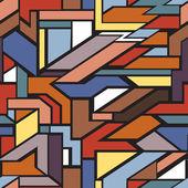 Motif sans soudure géométrique — Vecteur
