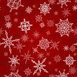 Winter, christmas, new year seamless pattern with snowflakes — Stockvectorbeeld