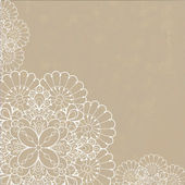 Retro background with lace ornament — Vector de stock