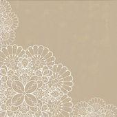 Retro tło z ornament koronki — Wektor stockowy