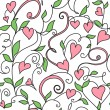 Seamless background with hearts ornament — Imagens vectoriais em stock